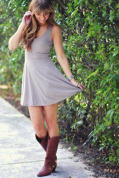 Twinkle In Her Eye Dress: Stone Grey