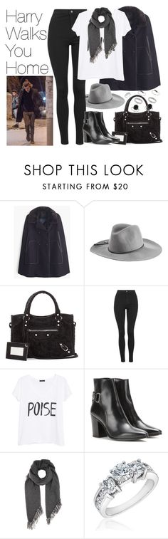 """""""Harry Walks You Home"""" by onedirectionimagineoutfits99 ❤ liked on Polyvore featuring J.Crew, Emilio Pucci, Balenciaga, Topshop, MANGO, Yves Saint Laurent, Isabel Marant, Reeds Jewelers and Miss Selfridge"""