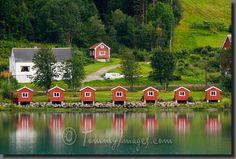 Olden, Norway - Camping cabins..... wow my Mom's home town...... love it <3 miss my cousins