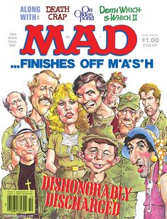 mad magazine the idiotical Classic MAD, Movie and TV Satires, Television, M*A*S*H, MASH, Series Finales, Alan Alda, mort drucker