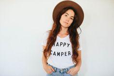Glückliche Camper T-shirt, The Bee & The Fox, Made in USA
