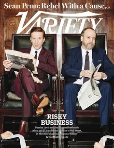 """Variety cover: Jan. 13, 2016: Damian Lew and Paul Giamatti in """"Billions"""" http://variety.com/2016/tv/features/billions-showtime-damian-lewis-paul-giamatti-1201678171/"""