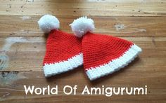 Cappello di Babbo Natale per Amigurumi   How to crochet a Santa Claus hat