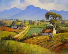 Hannes van der Walt - Cottages Pacaltsdorp | Landscape Art Fine Art