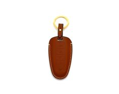 Ford Handmade Buttero Leather Smart Key Cover/Case   -Handmade by: Custom Republic  -Leather: Vegetable leather from Conceria Walpier & Vera Pelle -Attachment pieces: 18K gold satin coating - Colors: natural, yellow, orange, brown, navy, and camouflage -Thread & Stitching: Serafil (from Germany)  -Measurement: 6cm x 15cm