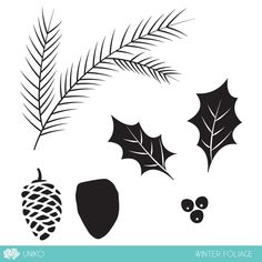 Winter Foliage Clear Stamp Set - Uniko