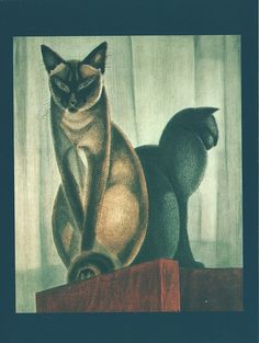 Painted Cat - Siamese Cats - Jacques Nam