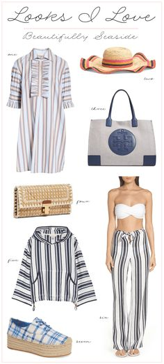 Influencer Desiree Leone of Beautifully Seaside features Tory Burch beach getaway looks in this week's Looks I Love. Shop the best vacation styles! Beach Vacation Outfits, Vacation Style, Airport Style, Beach Photos, Fashion Photo, Seaside, Tory Burch, Spring Summer, Style Inspiration