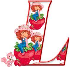 Alfabeto de Jahodový koláč sentado en una Fresa. | Ach môj Alfabetos!