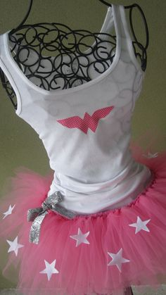 Running Tutu:  Pink Wonder Woman Inspired Custom Racing Tank and Pixie Length (9 inch) Adult Tutu on Etsy, $54.95