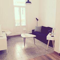 Carrelage esprit carreaux de cilment / Ciment tiles on the living room