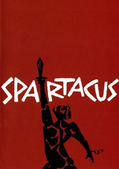 Saul Bass's striking poster for Spartacus, 1960