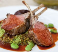Lamb Rack with salsa verde