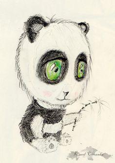 chibi panda - tužka