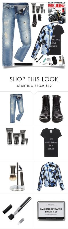 """The Biker"" by archsan ❤ liked on Polyvore featuring Calvin Klein, Alexander McQueen, Clinique, Zoe Karssen, Cedes, MCM, men's fashion, menswear, Bikers and Bikerset"
