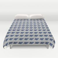#bed #heart #love #home #lasoffittadiste #denim #society6 Duvet Covers by LaSoffittaDiSte | Society6