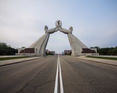 Vintage Socialist Architecture of North Korea by Raphael Olivier #inspiration #photography