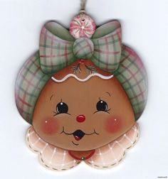 HP GINGERBREAD Face ORNAMENT ebay stonehouse28