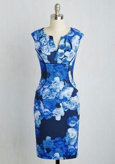 That's Muse to Me Dress. As if it wasnt already obvious, this sheath dress from Adrianna Papell casts you as everyone's style inspiration. #blue #modcloth
