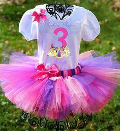 Disney Princesses Birthday Outfit Princess by TwistinTwirlinTutus, $49.99