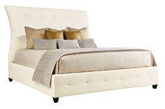 Leather Upholstered Bed   Bernhardt
