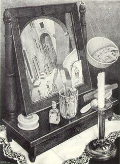 Still Life with Mirror ✖️M.C. Escher ✖️Fosterginger @ Pinterest✖️