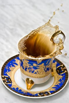 beautiful tea cup.