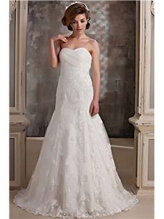 Fairytale A-Line Sweetheart Sleeveless Court Lace Daria's Wedding Dress