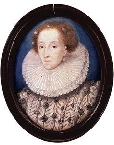 Queen Elizabeth, c.1575 Nicholas Hilliard Private Collection.  http://www.luminarium.org/renlit/elizahill1575.jpg