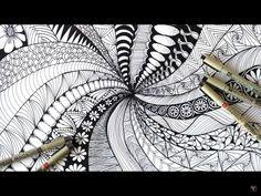 zentangle patterns doodle zen easy beginners draw botanical drawing step pattern zentangles mandala drawings closed eyes pencil uploaded