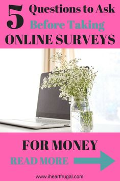 Thinking of Taking Surveys for Money? Ask yourself these 5 questions before using online survey site for extra cash. Survey sites can be a great side hustle if you know what to look out for.