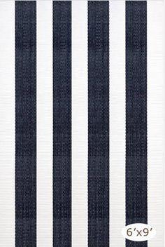Dash and Albert Lakehouse Navy/White Rain or Shine Rug