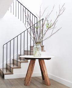 Simple metal banister