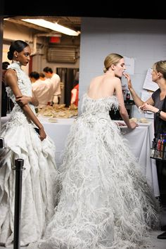 Christian Dior, backstage.