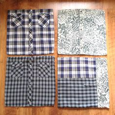 Four memory pillowcases created from three shirts.