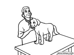 Veterinarian 2 Coloring Page