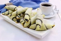 Russian poppy seed rugelach with cream cheese pastry. And then I am done posting poppy seed pastries for a while. Russian Dishes, Russian Desserts, Russian Tea, Ukrainian Recipes, Russian Recipes, Poppy Seed Filling, Polish Recipes, Polish Food, Poppies