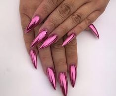 Metallic nail art designs provide the source of fashion. We all know now that metallic nails are shiny and fashionable and stylish. Silver metallic will enhance your overall appearance. These silver metallic nails are sure to be eye catching. Rose Gold Nails, Metallic Nails, Purple Nails, Acrylic Nails, Sexy Nails, Dope Nails, Fancy Nails, Perfect Nails, Gorgeous Nails