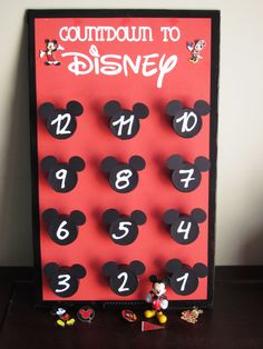 Disney Pin Trading Countdown Calendar #disneypintrading - Not just a countdown, but also a clever way to get your kids ready for pin-trading.