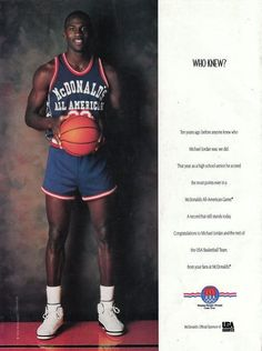 Who Knew? MJ McDonald's All-American out of Lacey HS in NC