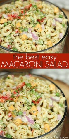 This Easy Macaroni Salad recipe is the perfect side dish to bring to Summer BBQ's, parties and more! Easy macaroni salad is loaded with veggies, cheese and more. You will love the creamy dressing in Macaroni salad recipe. Try this Pasta salad with mayo. Easy Macaroni Salad, Macaroni And Cheese, Simple Pasta Salad, Elbow Macaroni Recipes, Simple Salads, Pasta Cheese, Classic Macaroni Salad, Summer Pasta Salad, Summer Salads