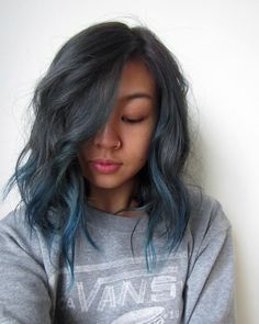 We love this Earth Month-inspired deep blue ombre style by Aveda Artist Megan.