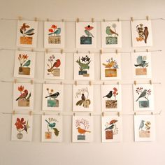 Love this simple (and cheap) way to display prints or postcards from places you/family has traveled.