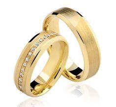Alianças Atlanta - Casamento e Noivado em Ouro 18K - Reisman
