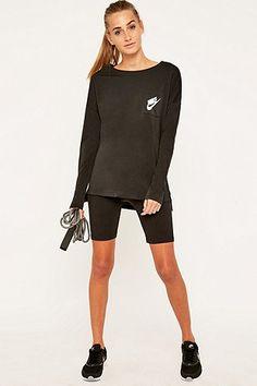 Nike - T-shirt Signal à manches longues noir Manches Longues, Noir, Yeezy 052ad688cd60