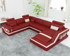 Tosh Furniture Veneto Leather Sectional Sofa