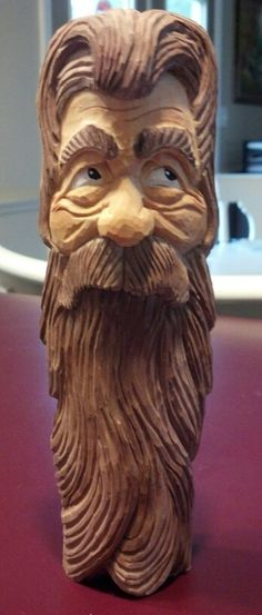 Bearded man - carved by Steve Coughlan