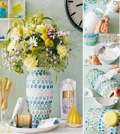 DIY : Make a Beautiful Mosaic Vase