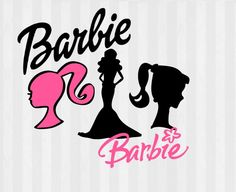 Vintage Barbie Clip art, Barbie SVG, Barbie Silhouette ...