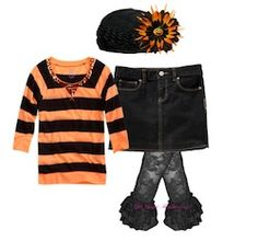 Click through for cute outfit ideas for girls to rock the Halloween look all month long!
